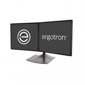 Ergotron DS100 雙顯示器台式支架,水平, 33-322-200 (黑色)
