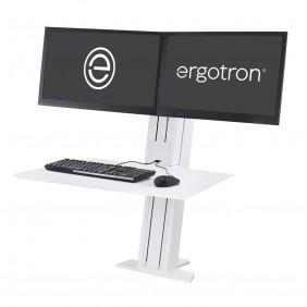Ergotron WorkFit-SR, Dual Monitor, Sit-Stand Desktop Workstation, 33-407-062 (WHITE)