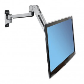 Ergotron LX Sit-Stand Wall Arm, 45-353-026 (Polished Aluminum)