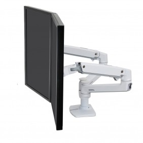 Ergotron LX Dual Side-by-Side Arm, 45-491-216 (White)