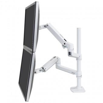 Ergotron LX Dual Stacking Arm, Tall Pole, 45-509-2...