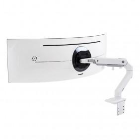 Ergotron HX Desk Monitor Arm with HD Pivot, 45-647-216 (white)