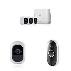 Arlo Pro2 3-cam system + Audio Doorbell, VMS4330P + AAD1001