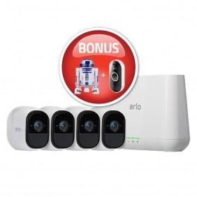 Arlo Pro2 4-cam system + Audio Doorbell, VMS4430P + AAD1001