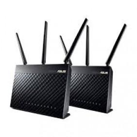 ASUS AiMesh ASUS 600+1300Mbps WiFi Gigabit Router, RT-AC68U (Dual Pack)