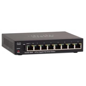 Cisco 8-Port Gigabit PoE Smart Switch, SG250-08HP-K9-UK
