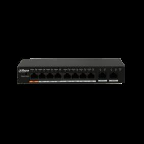 Dahua 8 Port Fast Ethernet PoE With 2 Port Gigabit Switch, DH-PFS3010-8ET-96