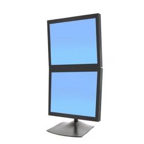 Ergotron DS100 Dual-Monitor Desk Stand, 33-091-200 (Black)
