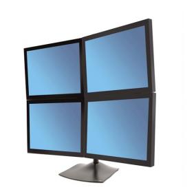 Ergotron DS100 Quad-Monitor Desk Stan, 33-324-200 (Black)