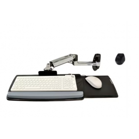 Ergotron LX Wall Keyboard Arm, 45-246-026 (Polished Aluminum)
