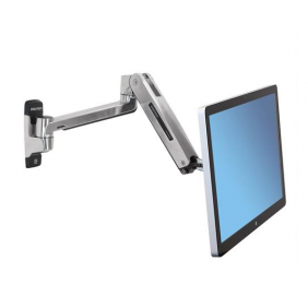 Ergotron LX HD Sit-Stand Wall Arm, 45-383-026 (Polished Aluminum)