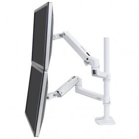 Ergotron LX Dual Stacking Arm, Tall Pole, 45-509-216 (White)
