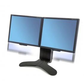 Ergotron LX Dual Display Lift Stand, 33-299-195 (BLACK)