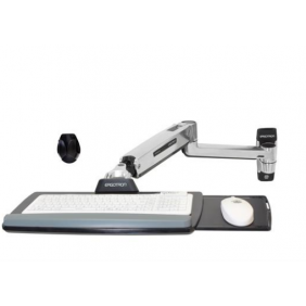 Ergotron LX Sit-Stand Wall Keyboard Arm, 45-354-026 (Polished Aluminum)
