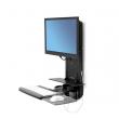 Ergotron StyleView® 坐立兩用垂直升降支架 病房版, 61-080-085 (黑色)
