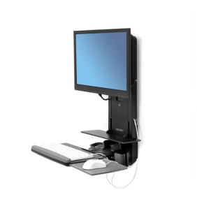 Ergotron StyleView® Sit-Stand Vertical Lift, 61-080-085 (BLACK)