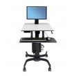 Ergotron WorkFit-C,單顯示器LD型坐立兩用工作站, 24-215-085