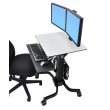 Ergotron WorkFit-C,雙顯移動工作站坐立兩用工作站, 24-214-085