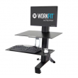 Ergotron WorkFit-S 輕型顯示器工作站帶工作台面, 33-350-200 (黑色)