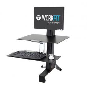Ergotron WorkFit-S, Single LD Workstation, 33-350-200 (BLACK)