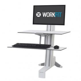 Ergotron WorkFit-S, Single LD Workstation, 33-350-211 (WHITE)