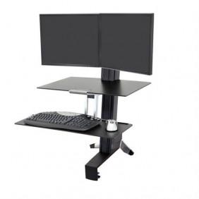 Ergotron WorkFit-S, Dual Workstation, 33-349-200 (BLACK)