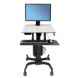 Ergotron WorkFit-S 中型顯示器HD型坐站兩用工作站, 24-216-085