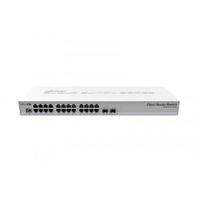 MikroTik 26 Port Gigabit Smart Switch, Model: CRS326-24G-2S+RM