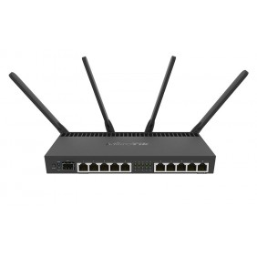 MikroTik WiFi Router, Model: RB4011iGS+5HacQ2HnD-IN