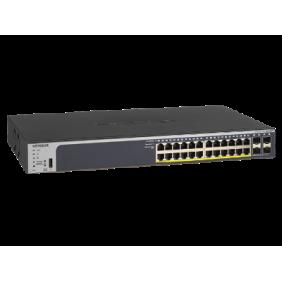 Netgear 24 Port Gigabit PoE+ Smart Managed Pro Switch, GS728TPv2
