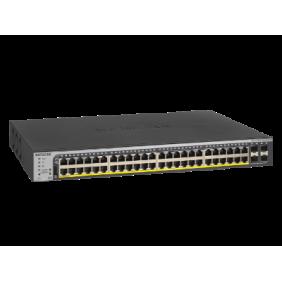 Netgear 48 Port Gigabit PoE/PoE+ Smart Managed Pro Switch, GS752TPP