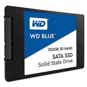 """WD Blue NAND SATA 250GB 2.5"""" SSD, Model: WDS250G2B0A"""