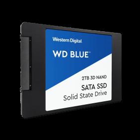 """WD Blue NAND SATA 2TB 2.5"""" SSD, Model: WDS200T2B0A"""