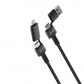 XPower 6X1 6 In 1 Sync Charge Cable, XP-6X1-100-BK