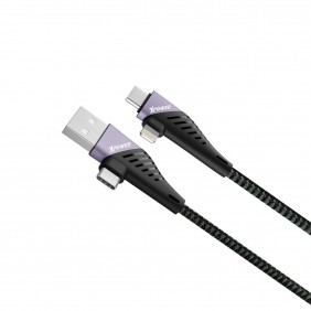 XPower ACCL 60W PD 4 In 1 Sync & Charge Cable, XP-ACCL-120-BK